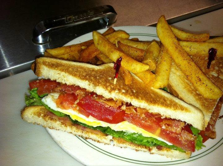 B.L.T. with Egg and Fries at Jodie's Restaurant
