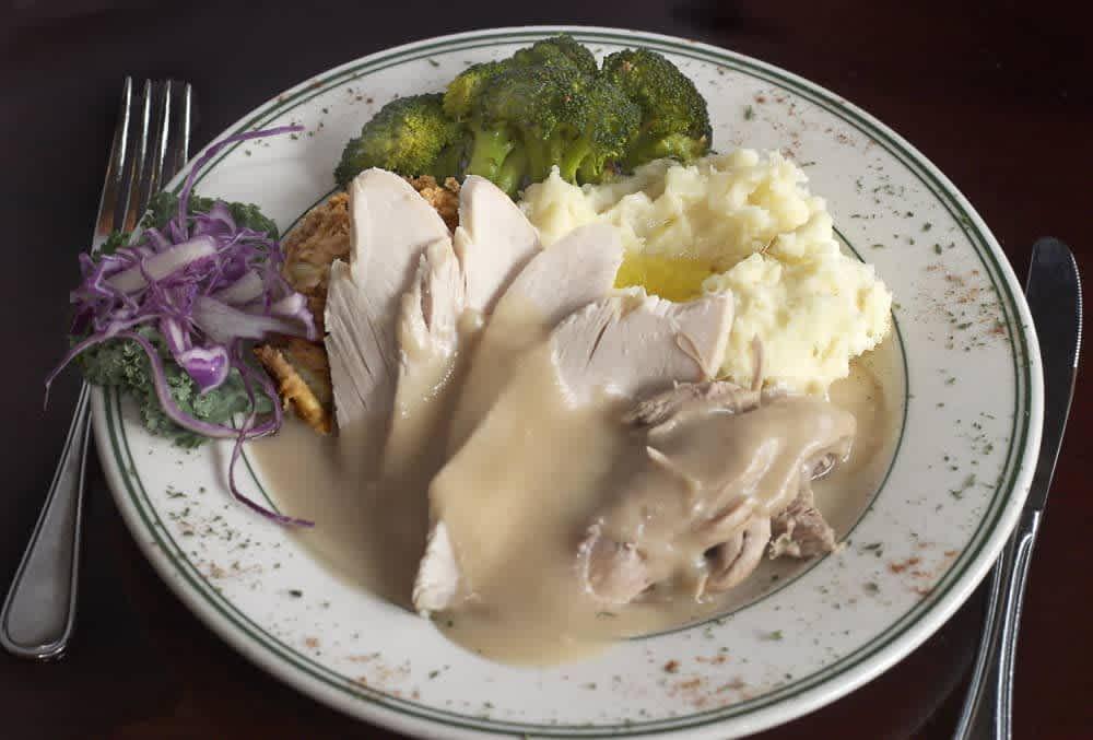 Traditional Turkey Dinner at Huber's Restaurant