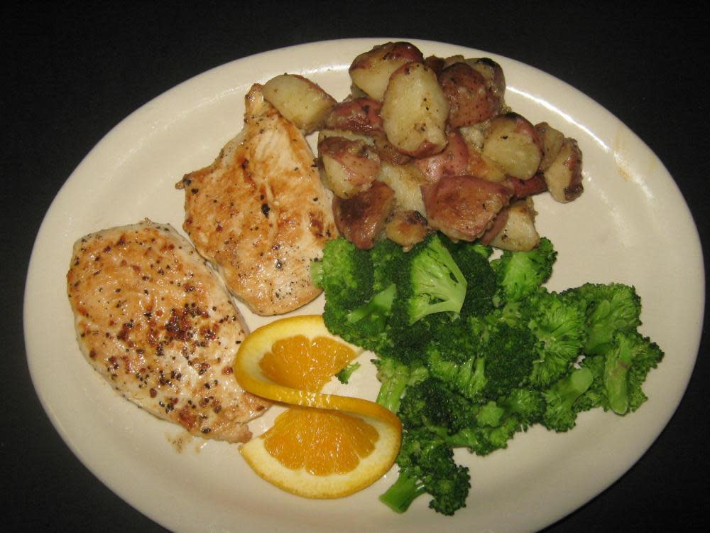 Served with Rosemary New Potatoes and Broccoli at Irish Bred Pub
