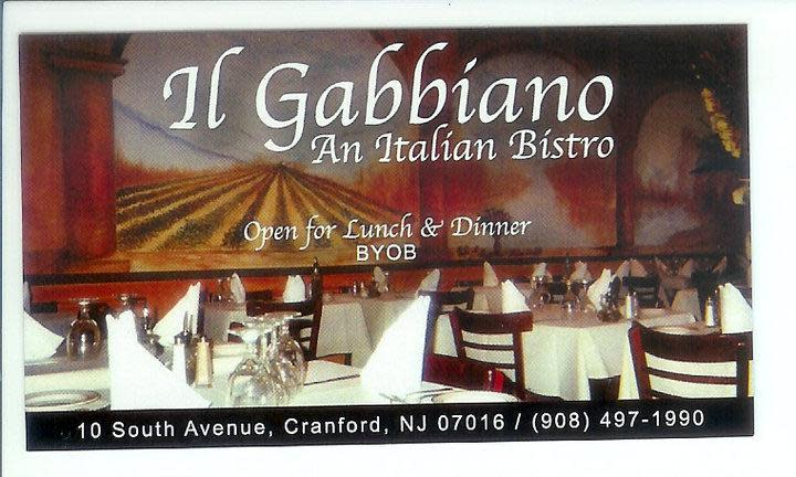 Il Gabbiano Menu Reviews Cranford 07016