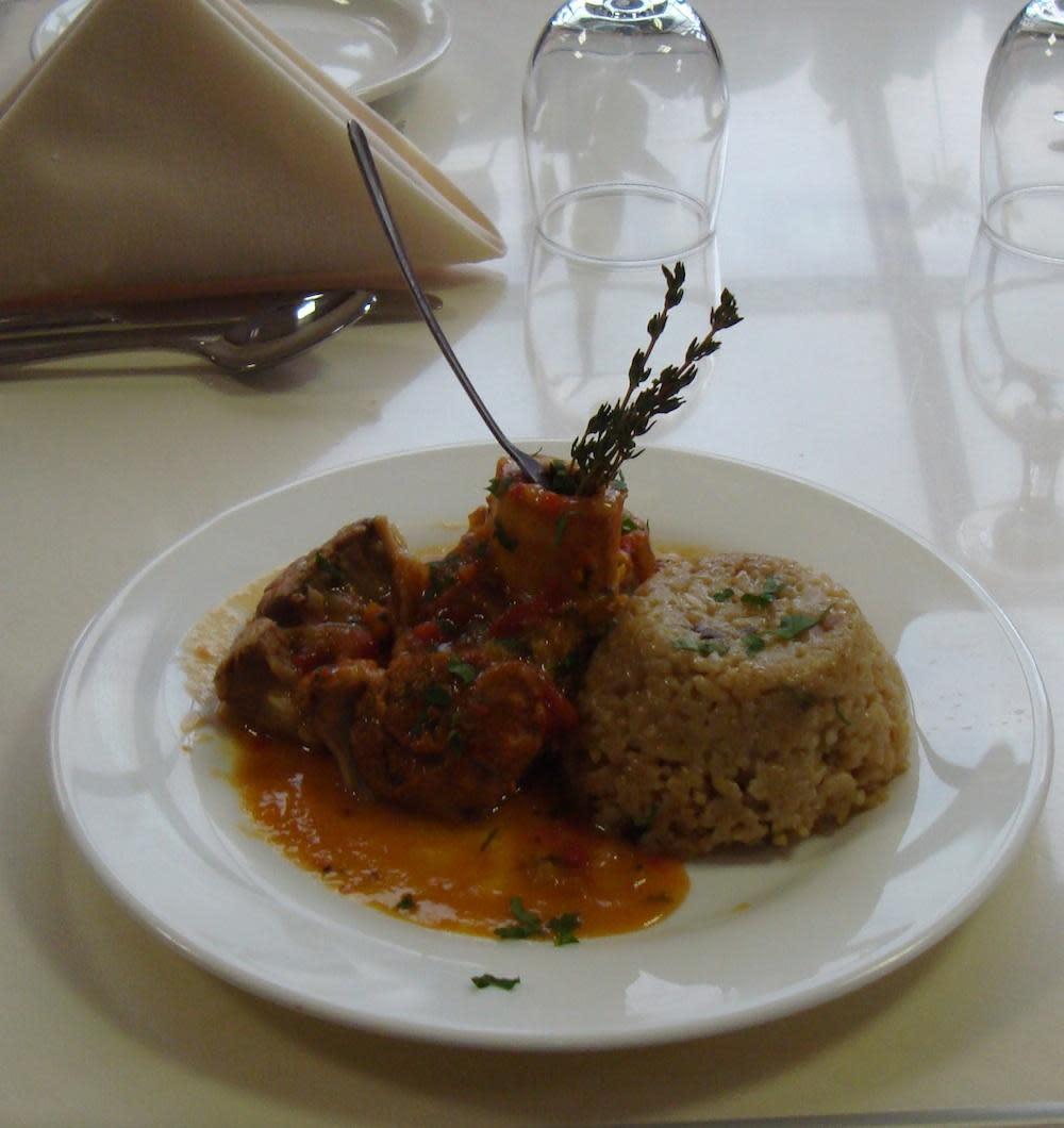 Ossobuco at Caffe Capri