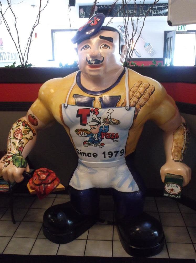 Yohan is our local high school mascot.  We even have a pizza and appetizer named after him (them) at T's Pizza
