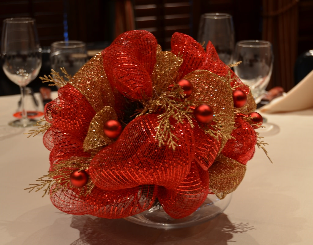 Center piece Holiday preparation at Tradicao  at Tradicao Brazilian Steakhouse