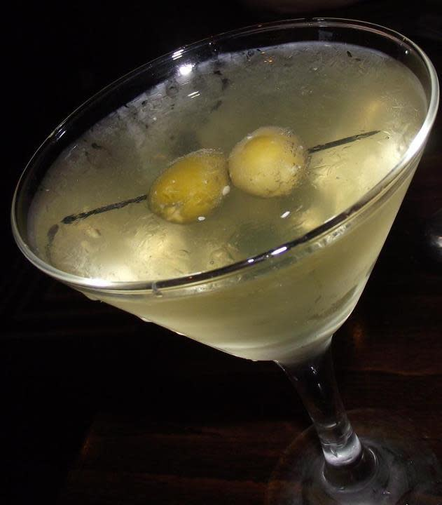 Dripping Springs Vodka Martini at Napoli Flying Pizza