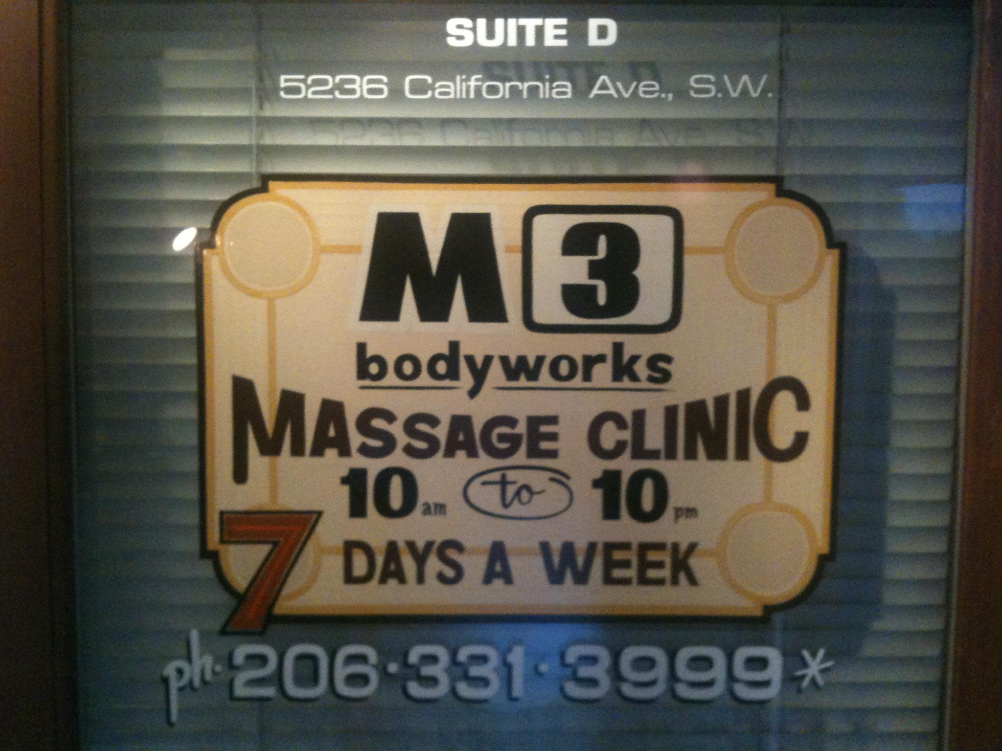 Front Door at M3 Bodyworks Massage Clinic