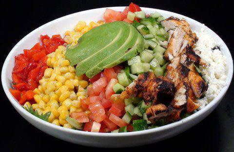 Kabob Cobb Salad at Sababa Restaurant & Lounge (CLOSED)