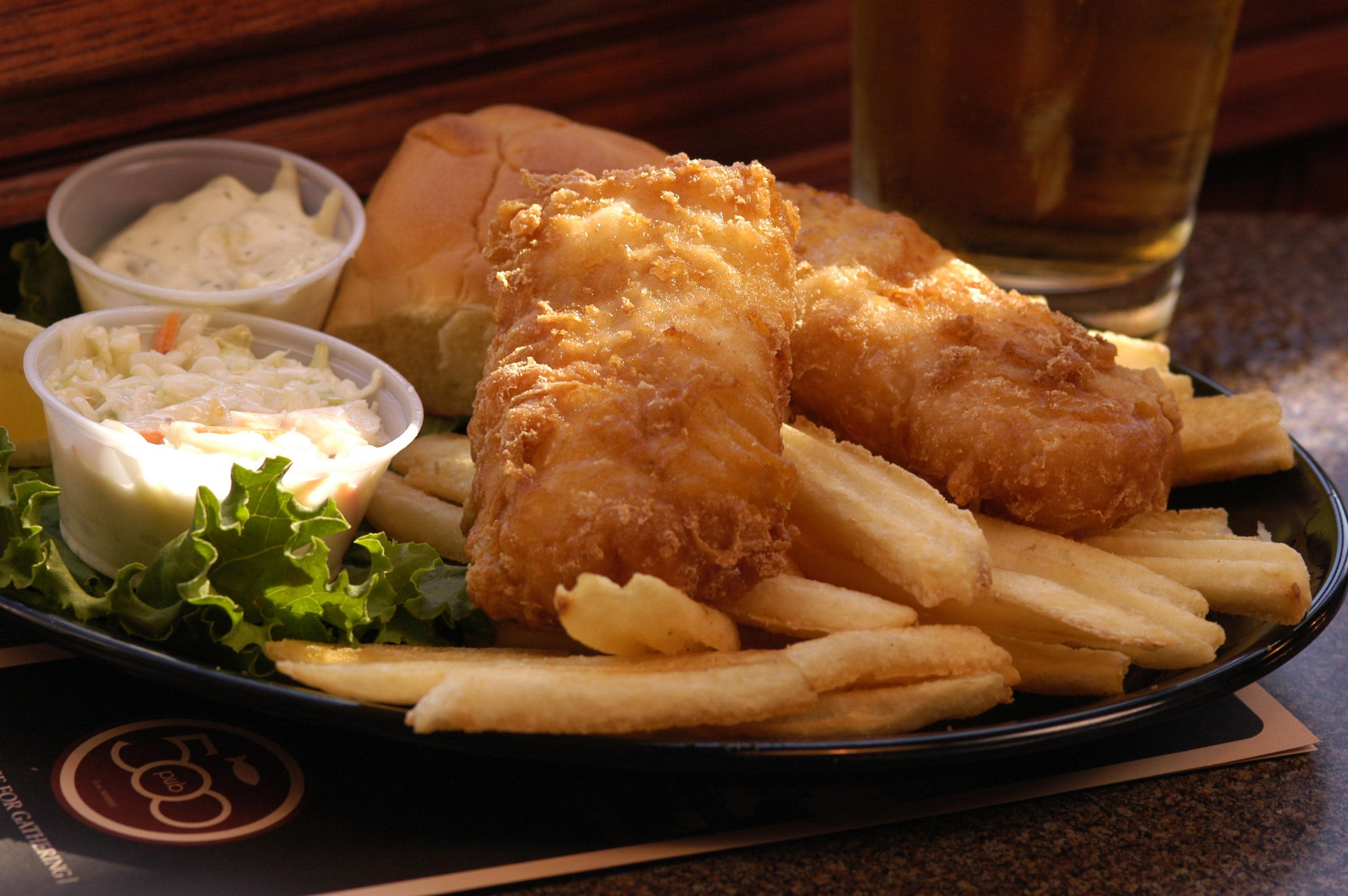 Fish and Chips at Pub 500