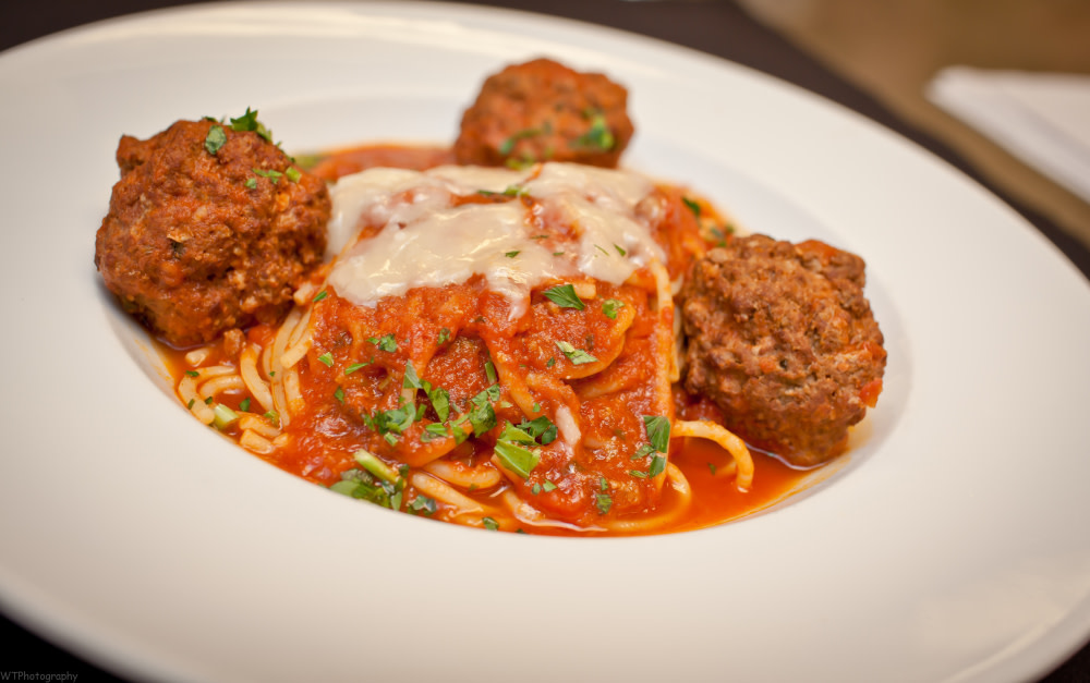 Spaghetti with Meatballs at TusCA Ristorante