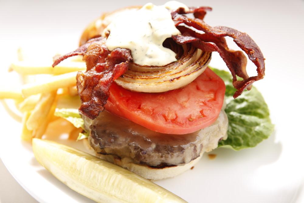 White Cheddar Burger at Sheerwater