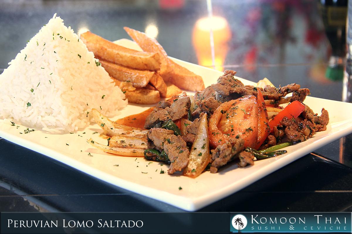 Lomo Saltado at Komoon Thai Sushi & Ceviche