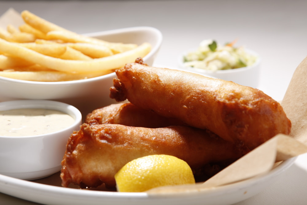 Our Famous Fish and Chips at Sheerwater