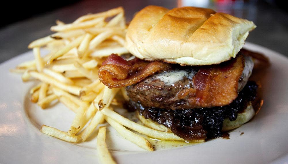 7th Heaven - Ohio thick-cut bacon   truffle butter   red onion jam at The Rail