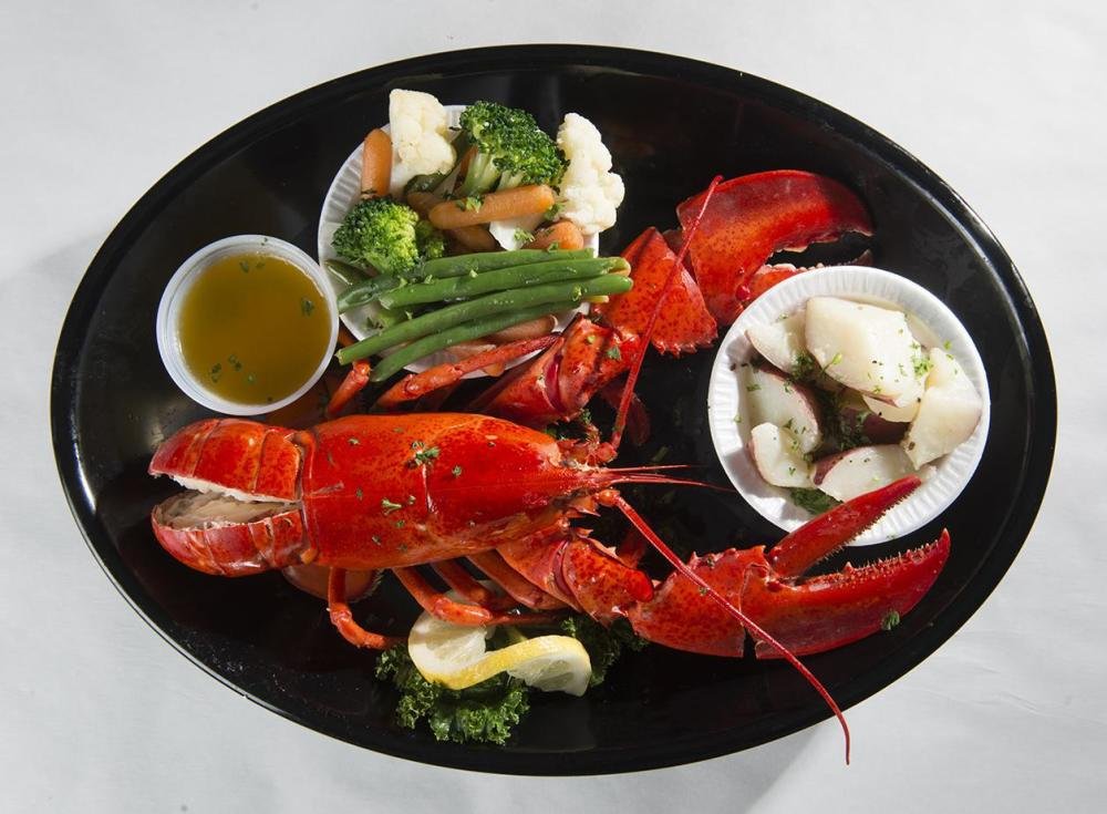 Whole Steamed Lobster Photo